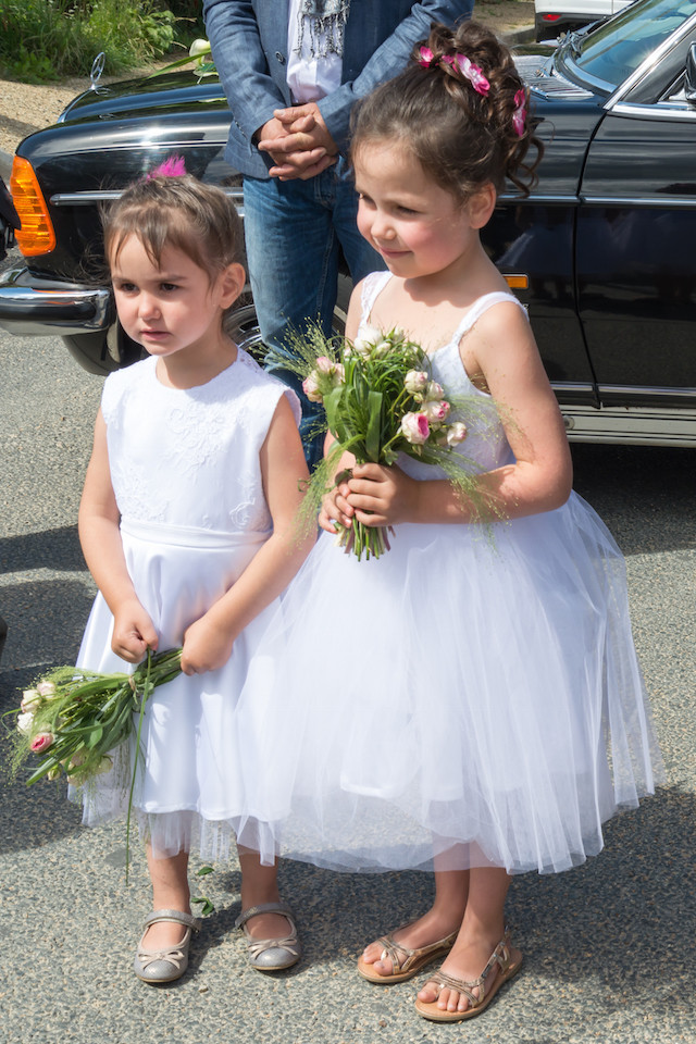 robe de cortege assortie à la mariée