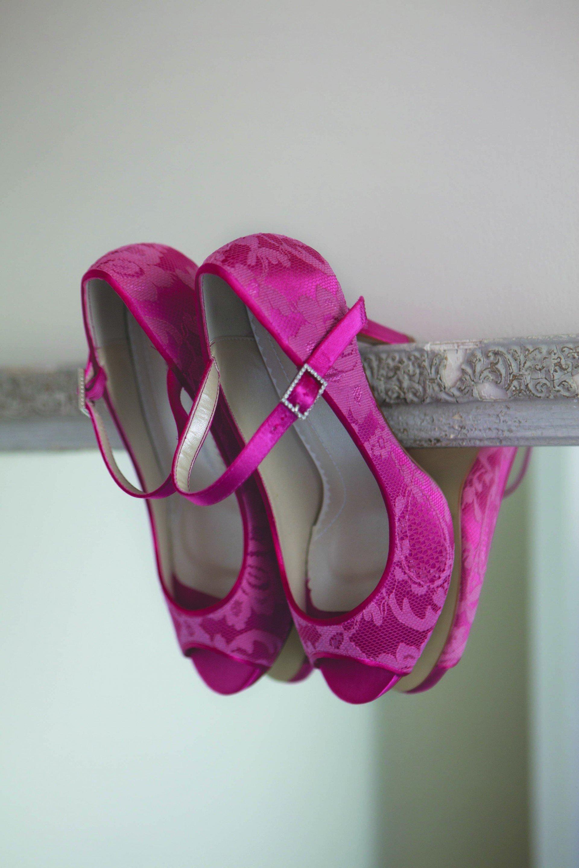 chaussure de mariée fuschia