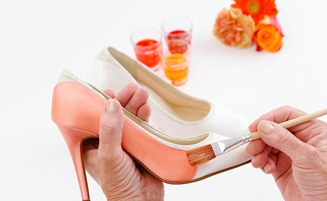 49225e21feafb0 coloration chaussures 3 - Kamélion - Laetitia Drouet : Robe de mariée de  créateur à Nantes