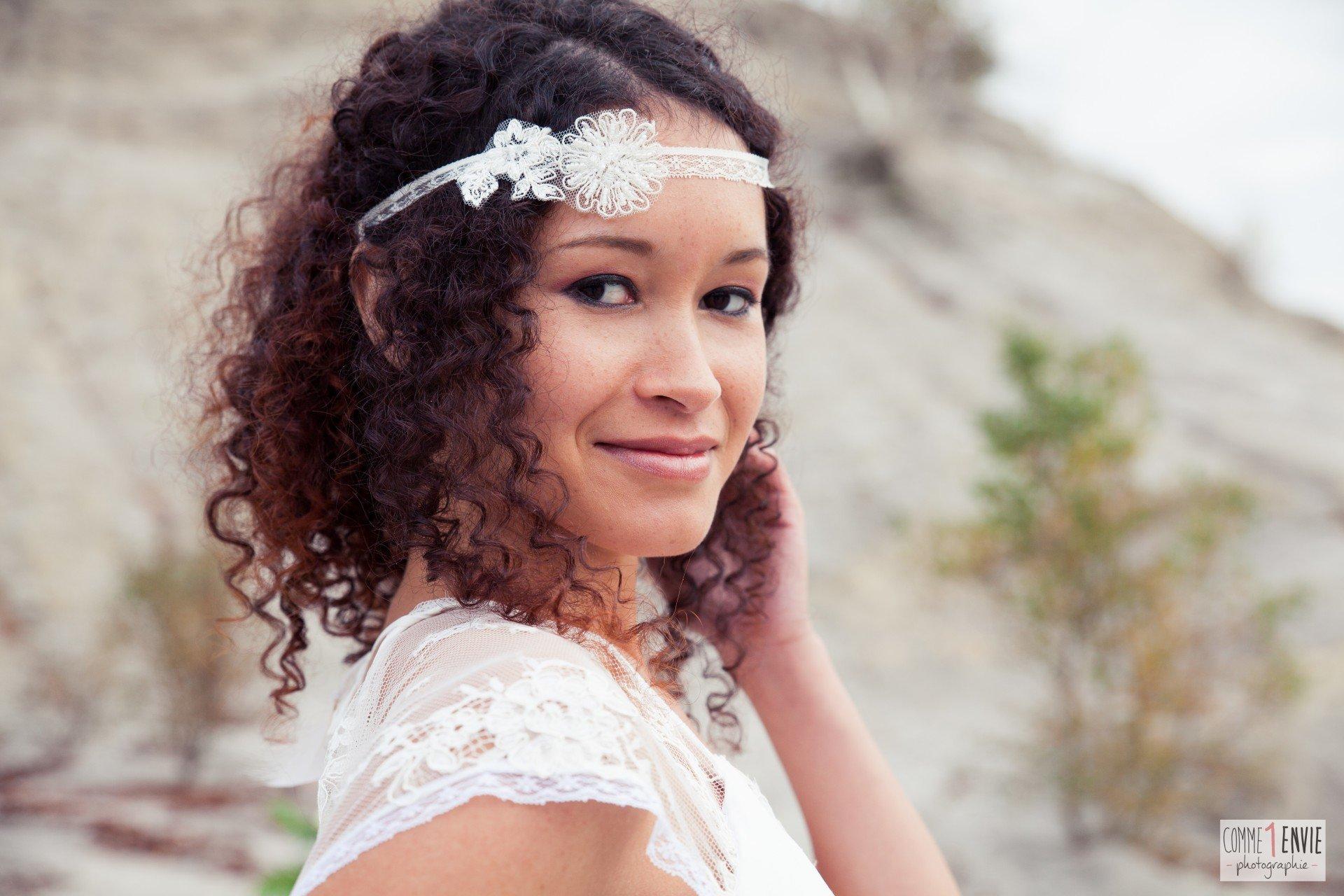 headband mariée dentelle et perle