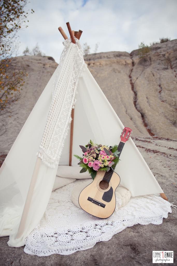 un mariage hippie chic kamelion couture. Black Bedroom Furniture Sets. Home Design Ideas