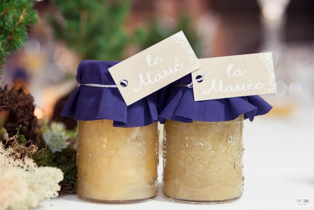 cadeaux invités mariage pot à confiture
