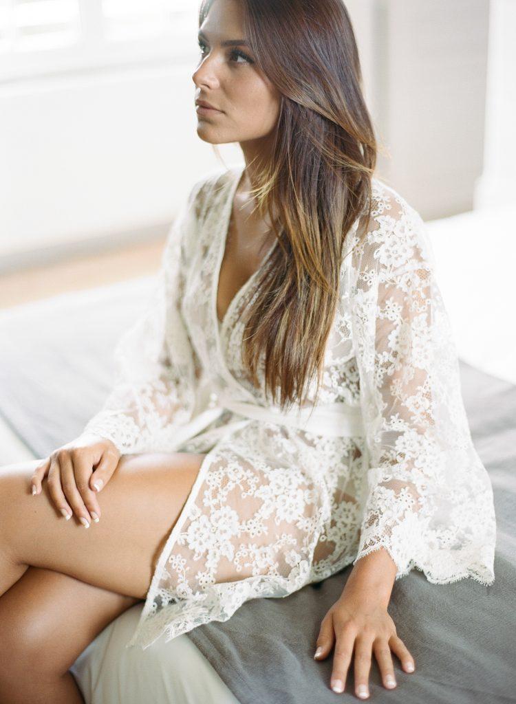 kimono eco-resposable pour mariée