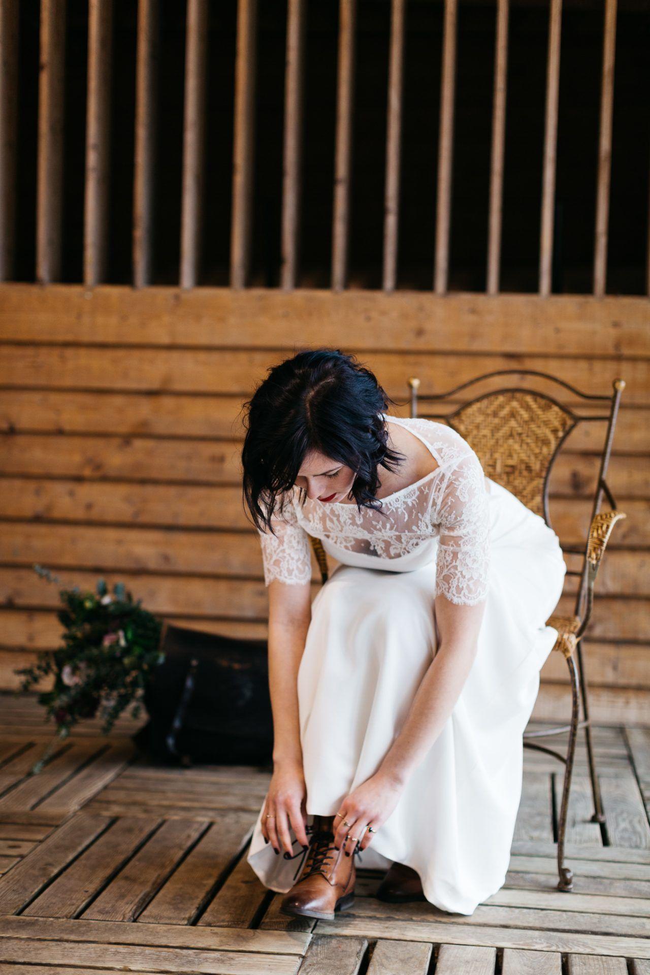 mariage chalet en bois scandinave
