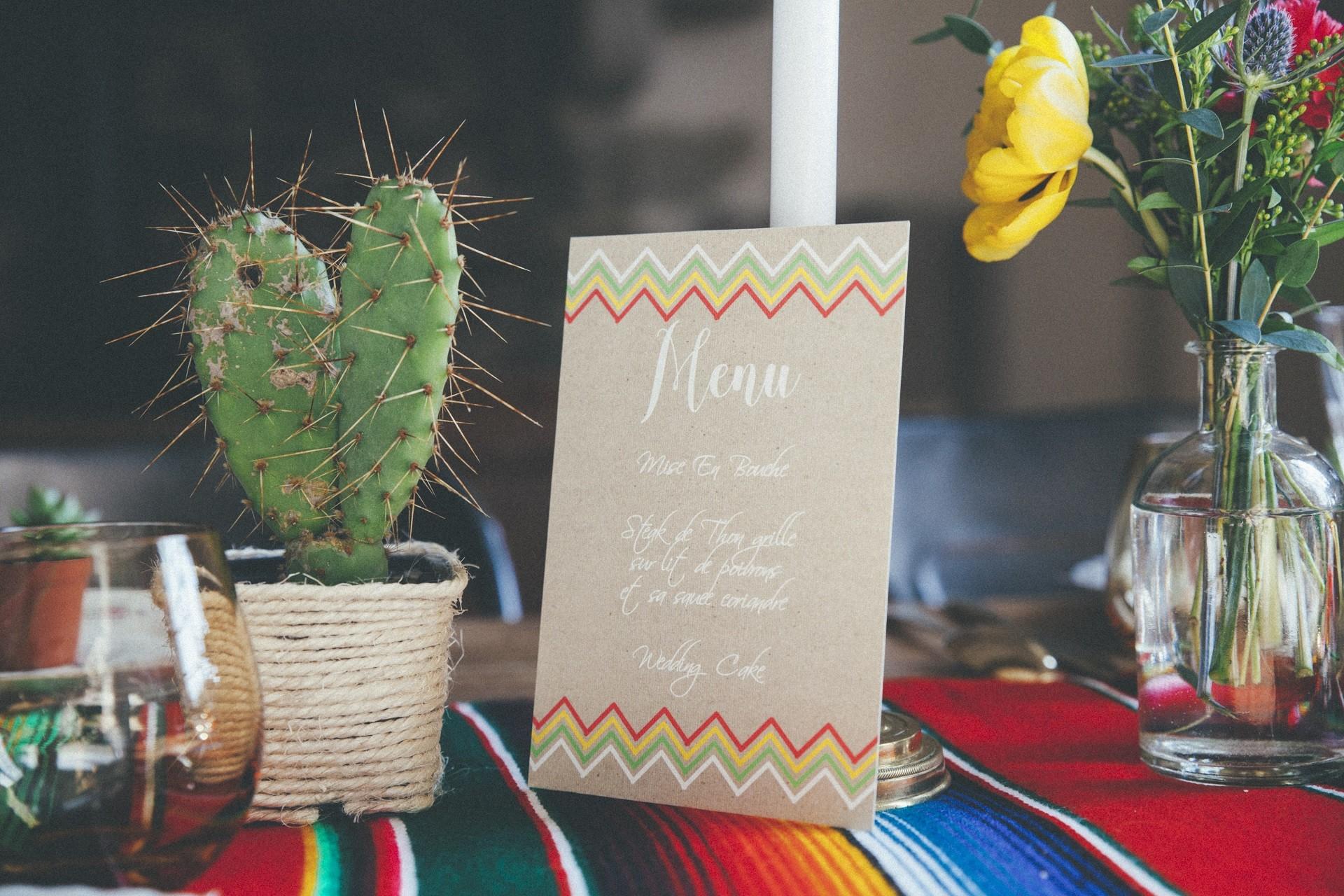 menu mariage mexicain