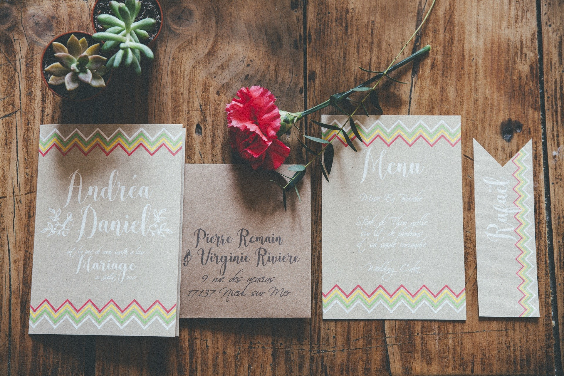 papeterie mariage theme mexicain