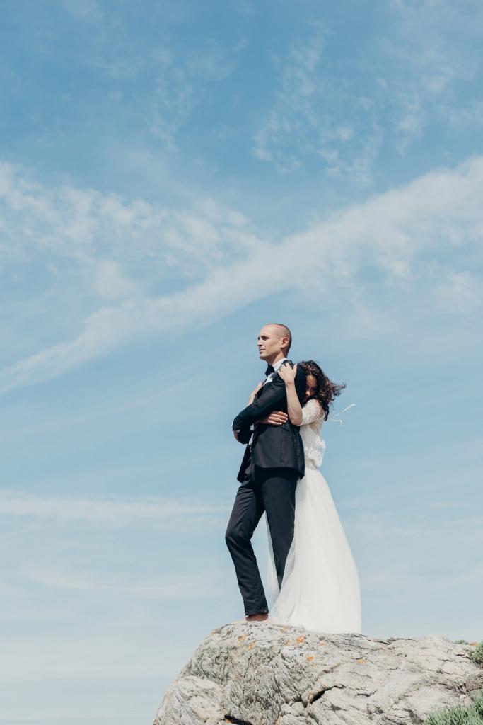mariage instimiste sur la plage à gueérande