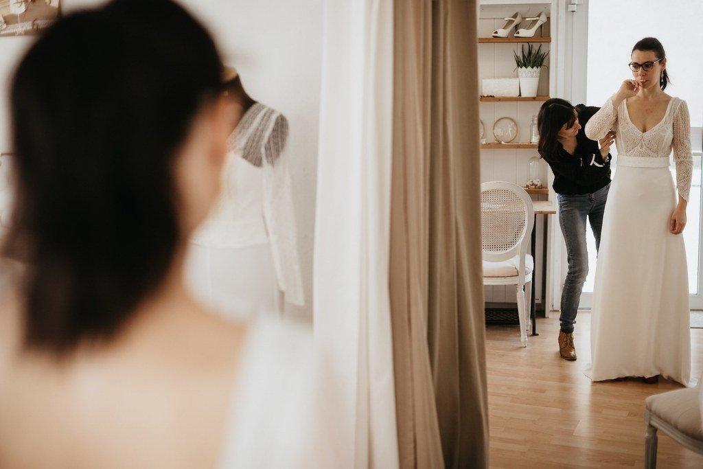 l'atelier kamélion couture realise des robe de mariée 100% à votre image