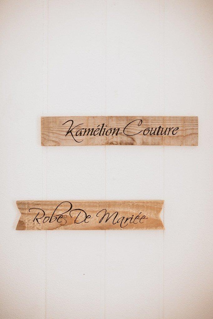 l'atelier kamélion couture de Laetitia Drouet créatrice de robe de mariée sur mesure entre Angers et Nantes