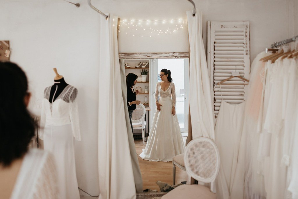 comment ce passe une essaygae de robe de mariée sur mesure