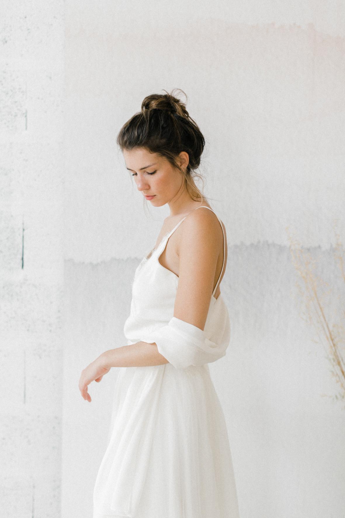 étole en soie pour la mariée