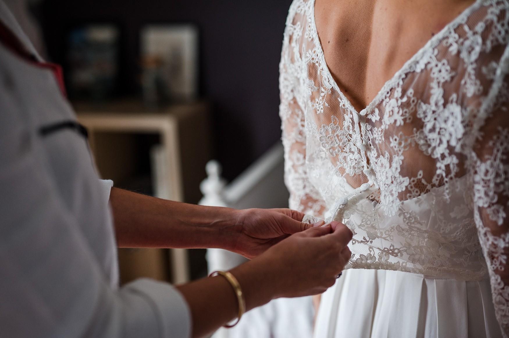 robe de mariée 2 pièces