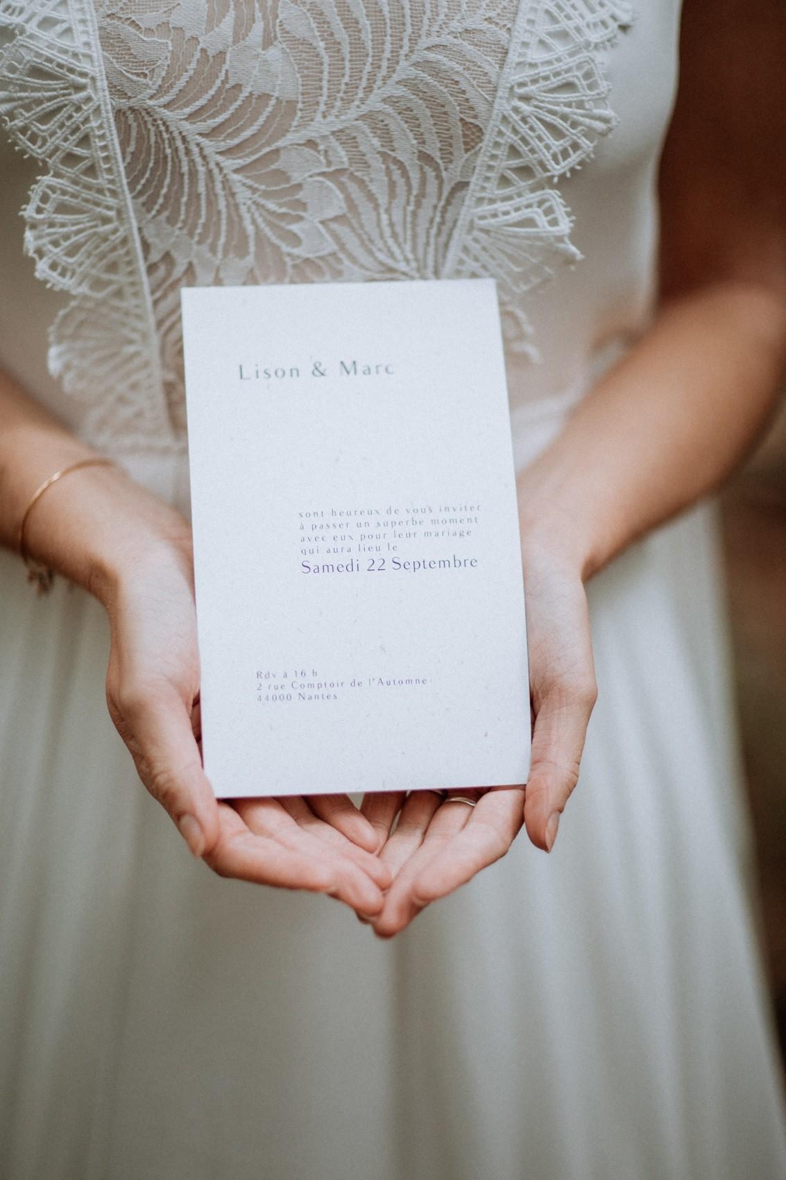 faire part de mariage simple