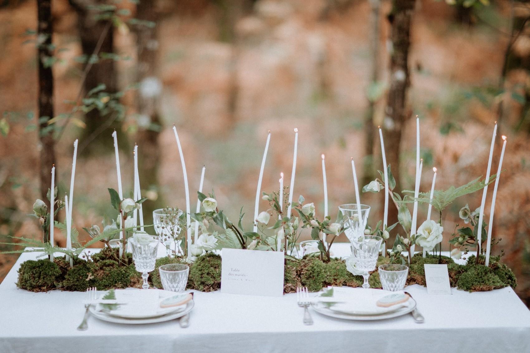 decoration et art de la table mariage thème végétal