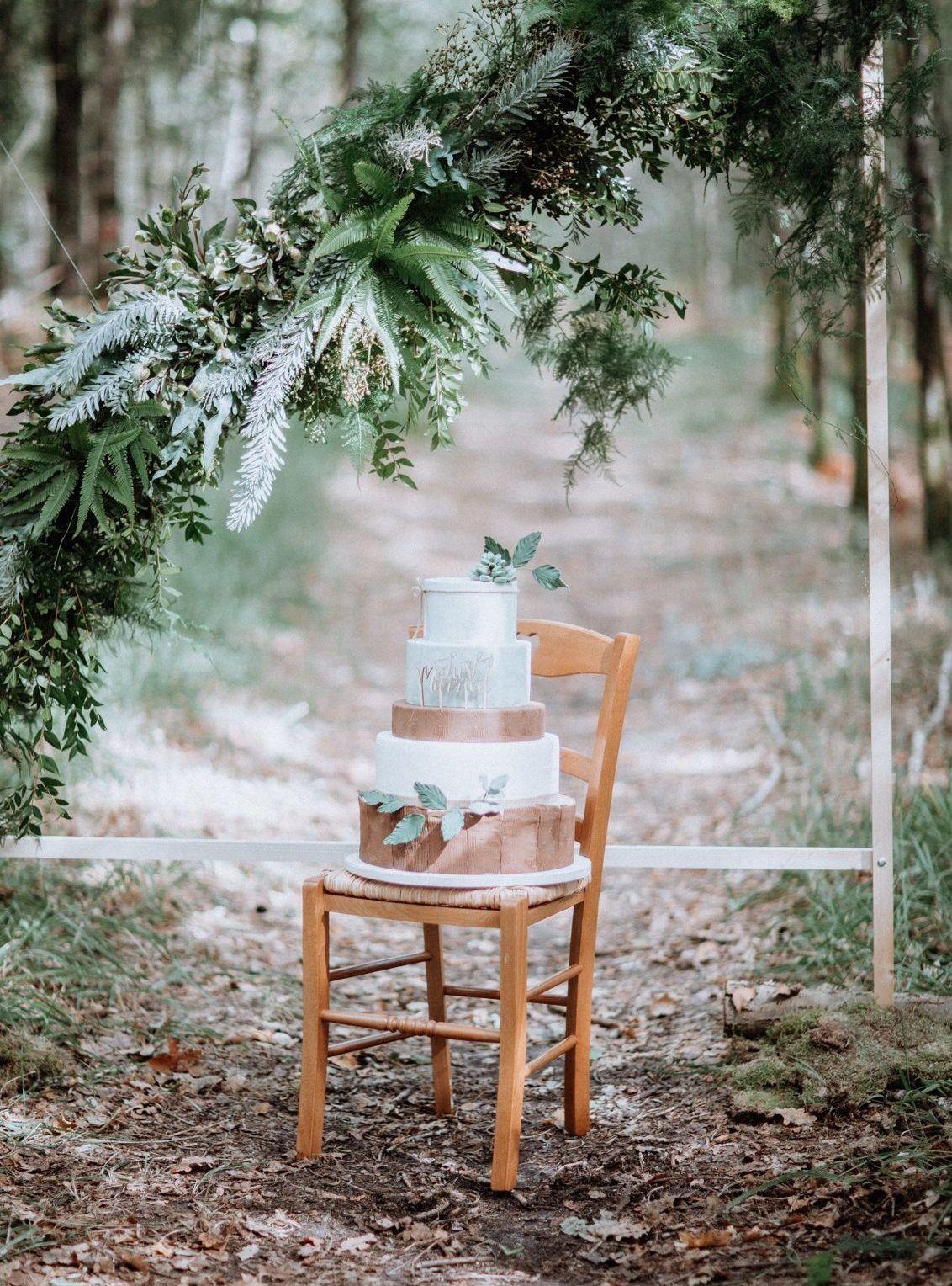 mariage en forêt le wedding cake