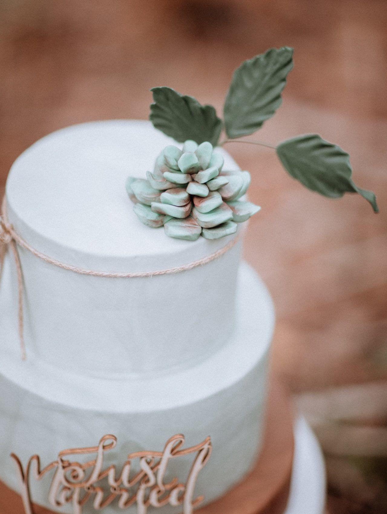 gateau pour un mariage thème forêt