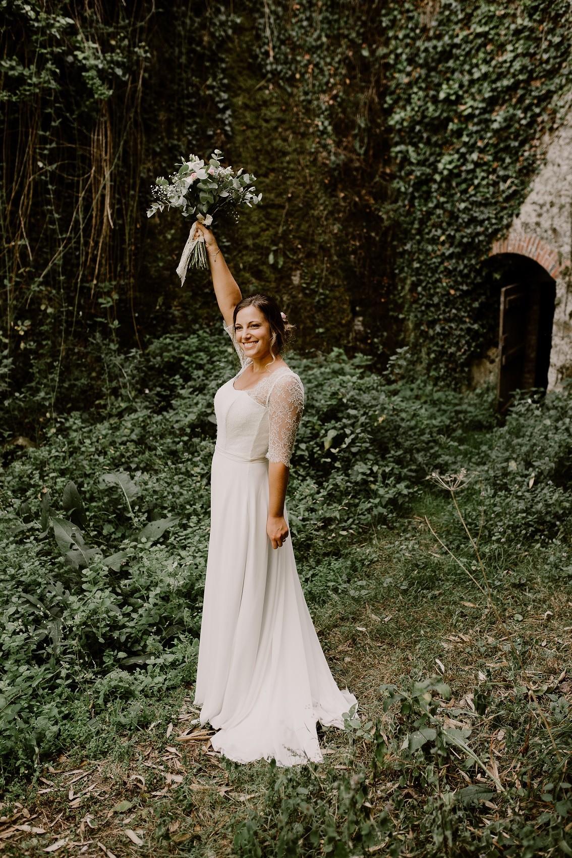 lever de bouquet de la mariée