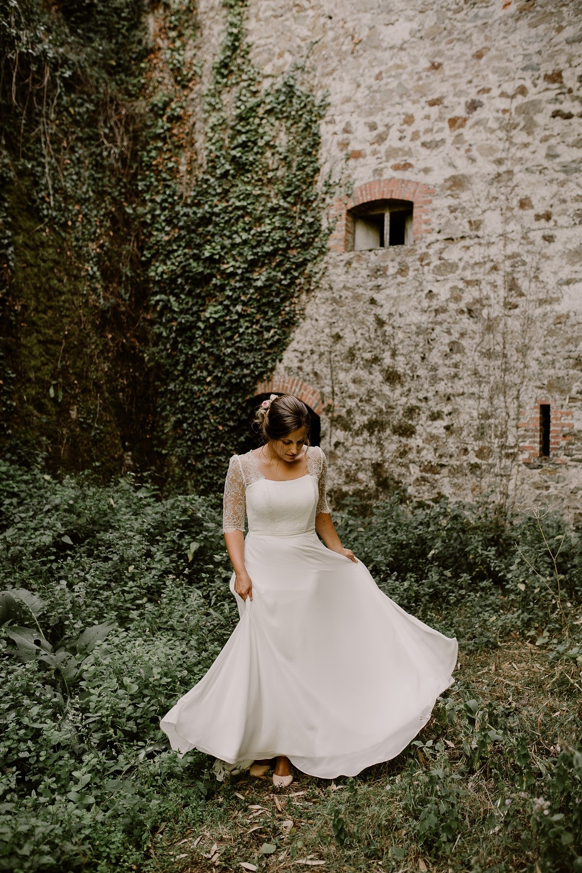 mariage au chateau cop choux photo de la mariée
