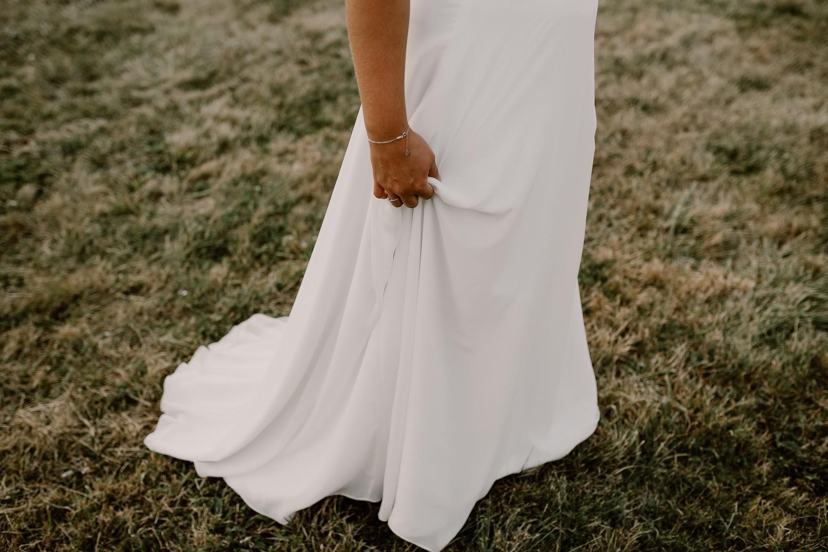 robe en mousseline avec petite traine