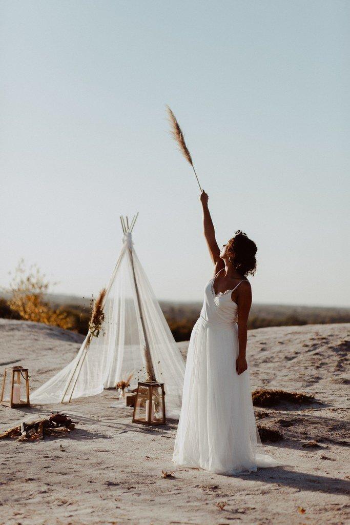 Pourquoi ne pas imaginer un mariage dans le désert?