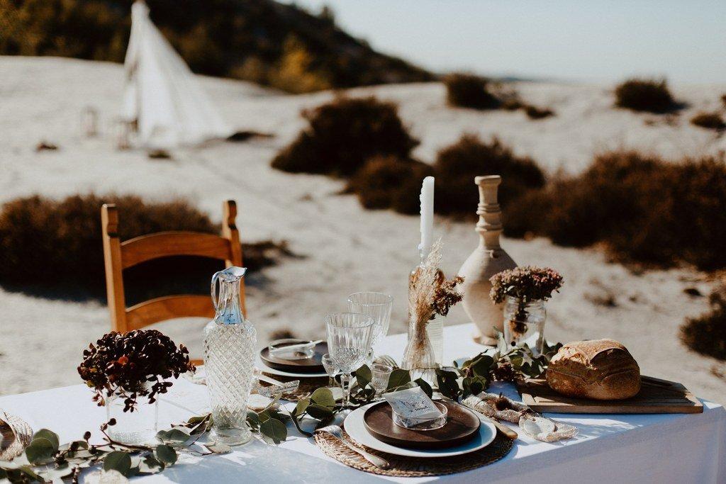Alice et son époux se sont marié dans le désert.