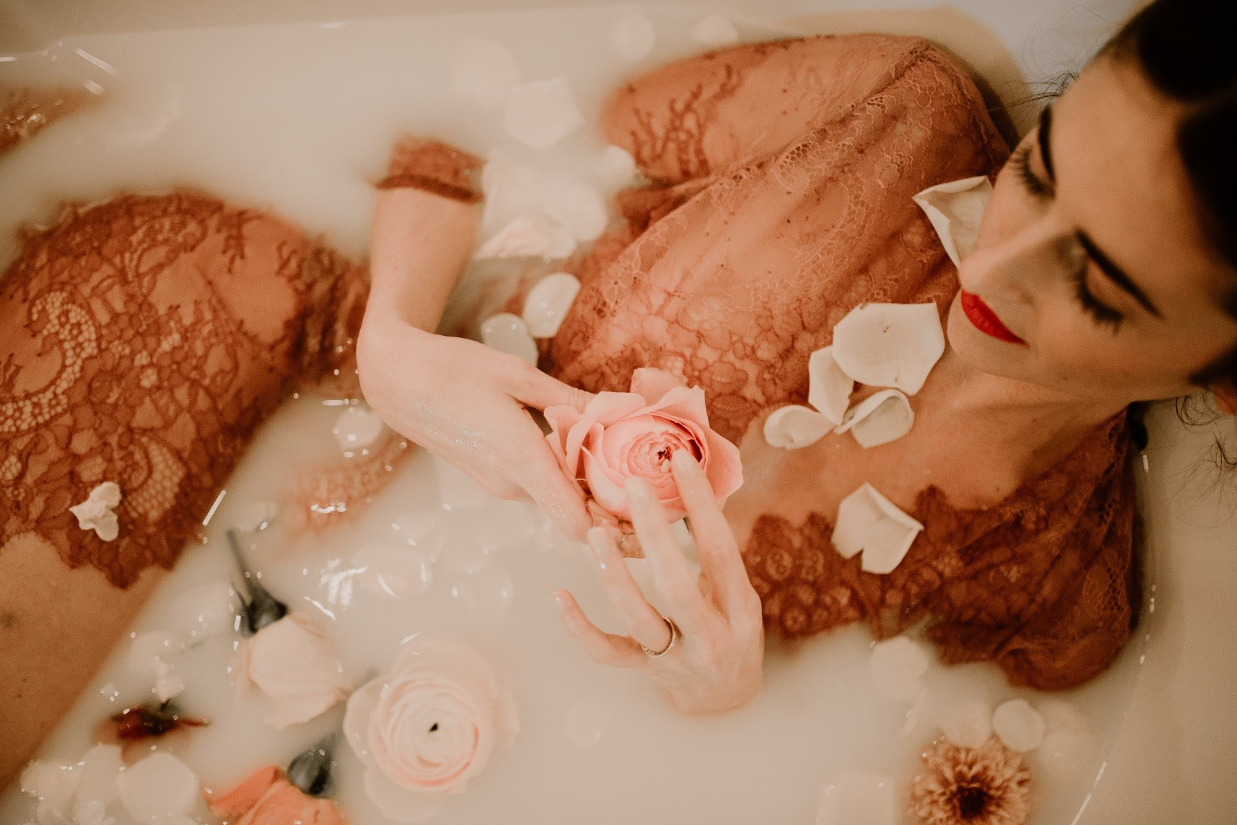 le kimono dans le bain