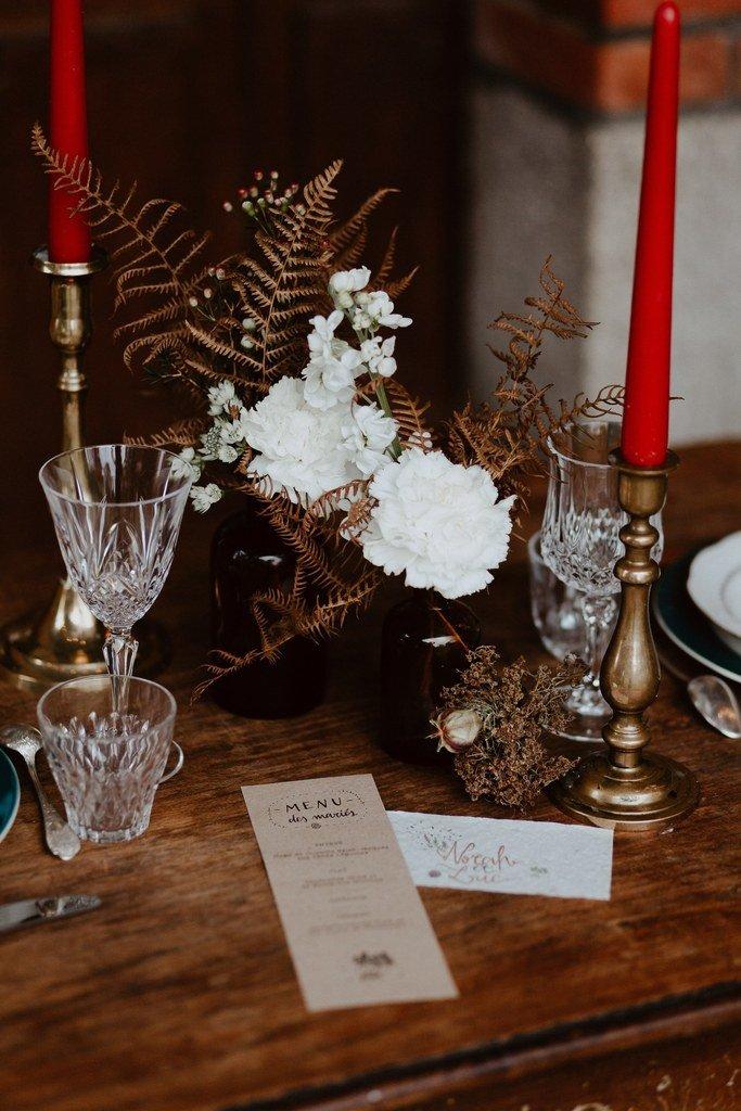 La table des invités est très belle.