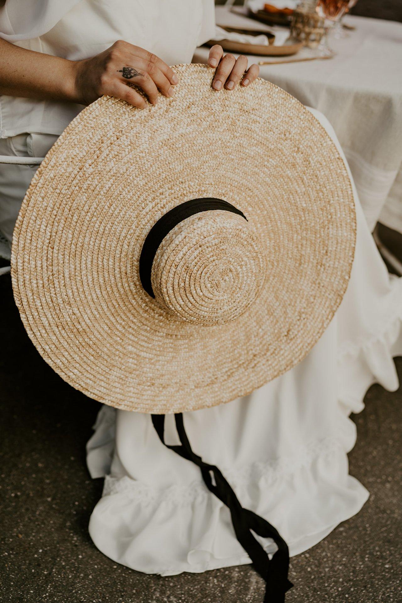 Chapeau panama pour un mariage qui c'est déroulé en bord de Loire.