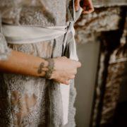 le kimono chloé est livré avec une belle ceinture en satin