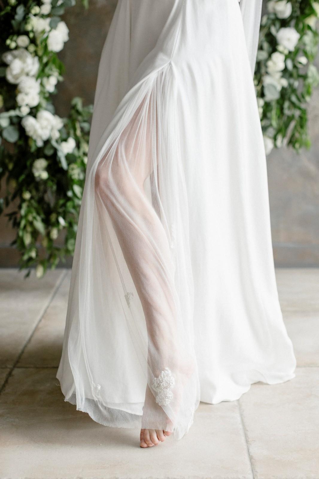 Robe de mariée zéro-déchet fabriqué à Nantes.