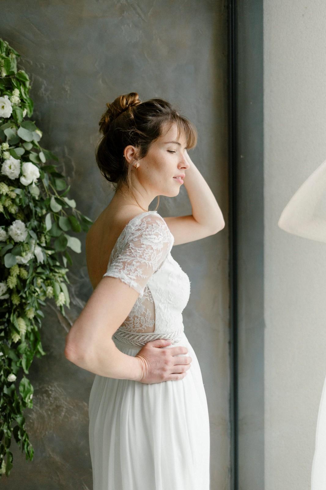 Clemence est une robe de mariée écologique Fabriqué entre Rennes et Angers