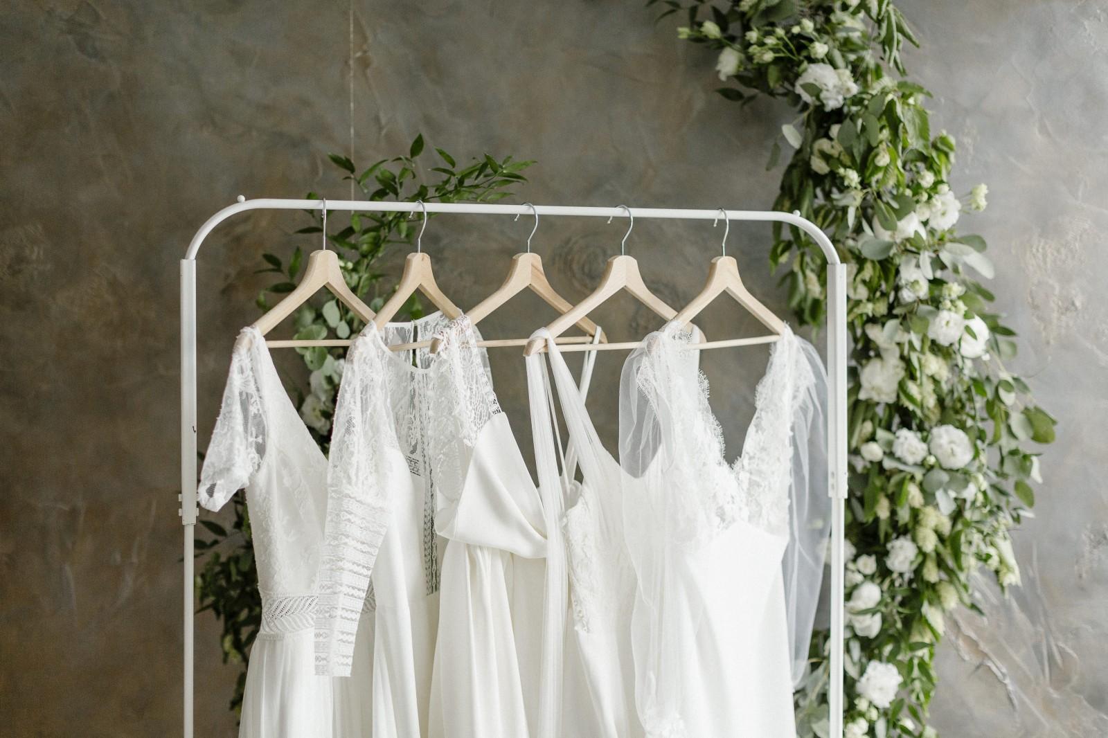 La collection bienveillance 2021 est composé de robe de mariée ecoresponsable, biodégradable et zéro déchet.