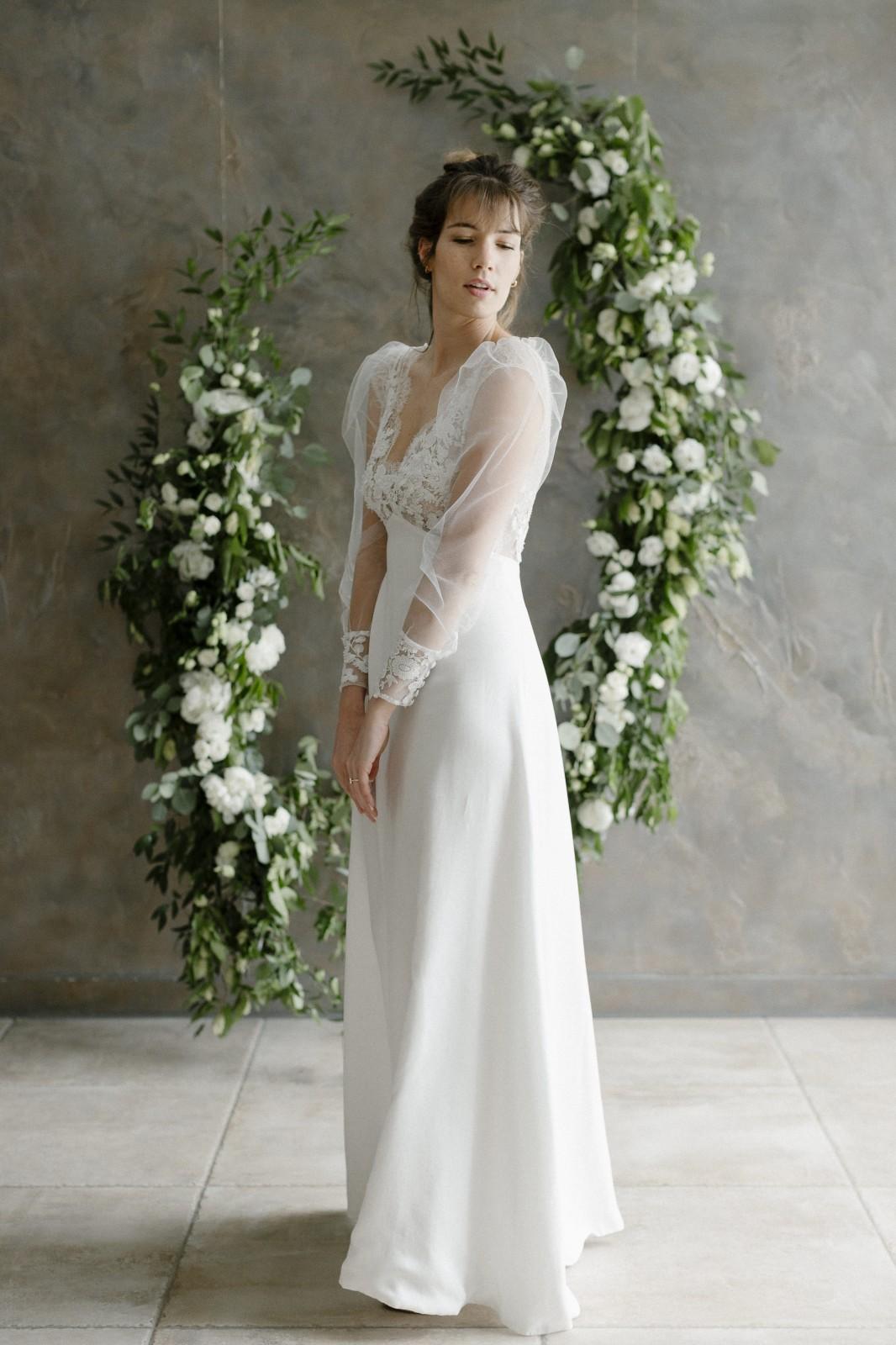 Inées est une robe de mariée en tencel biodégradable.
