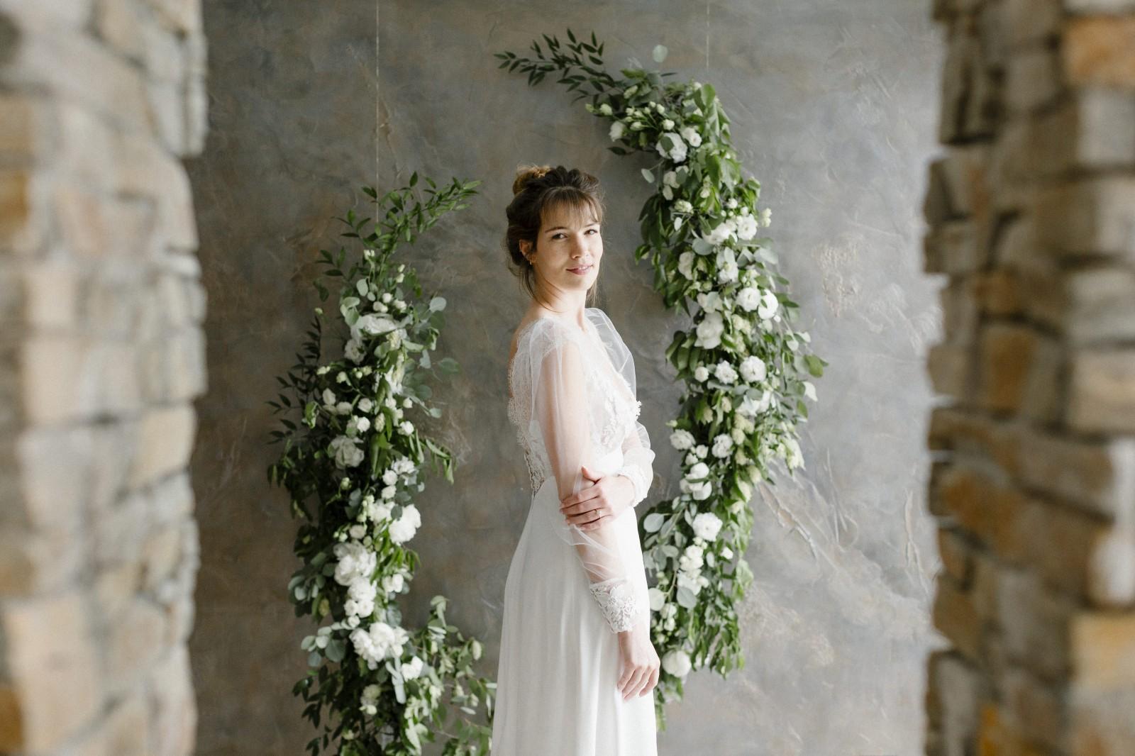 Ines est une robe de mariée fabriqué avec la méthode zero waste fashion.