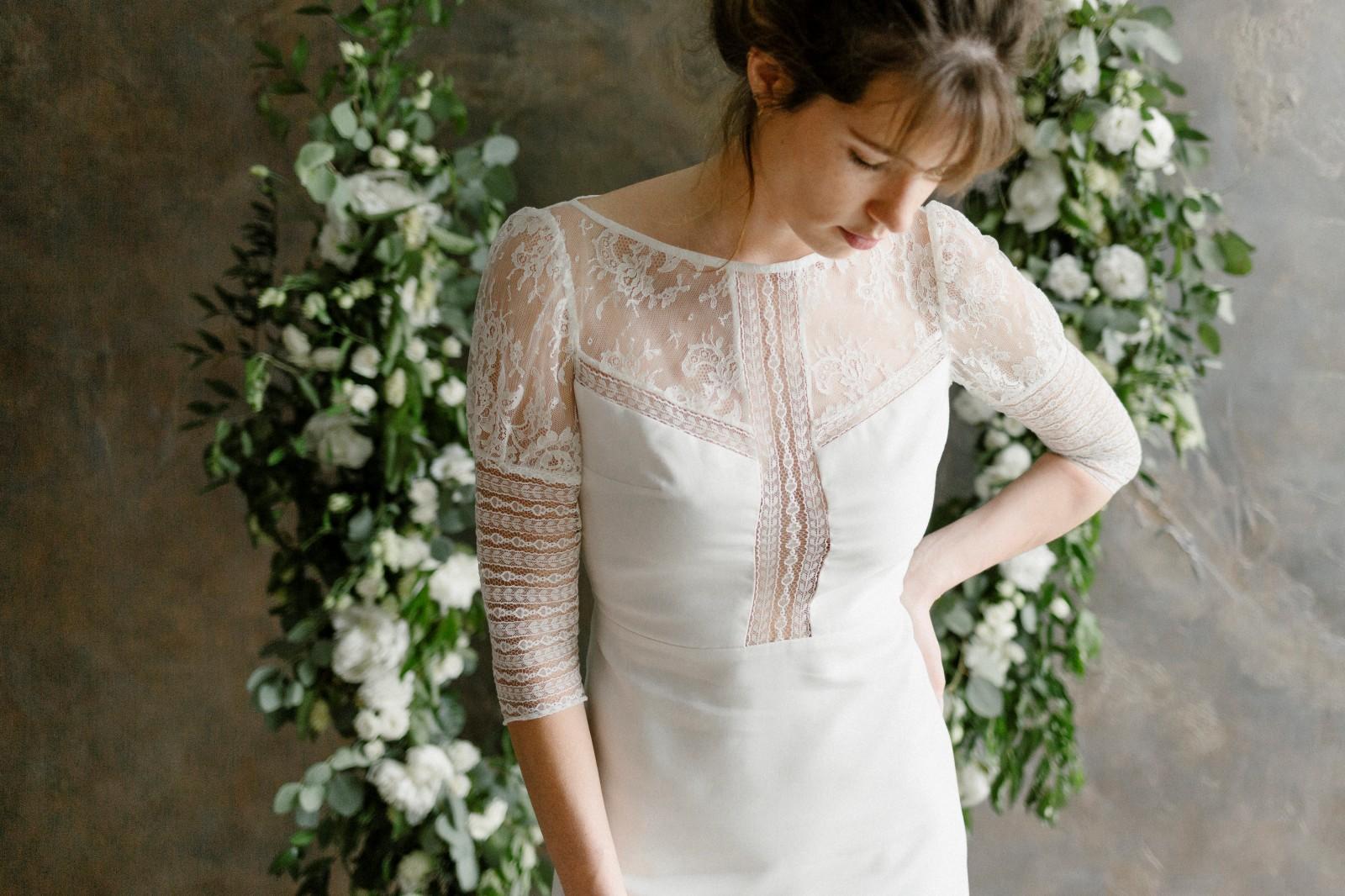 Une robe de mariée écologique cousu dans du Tencel.