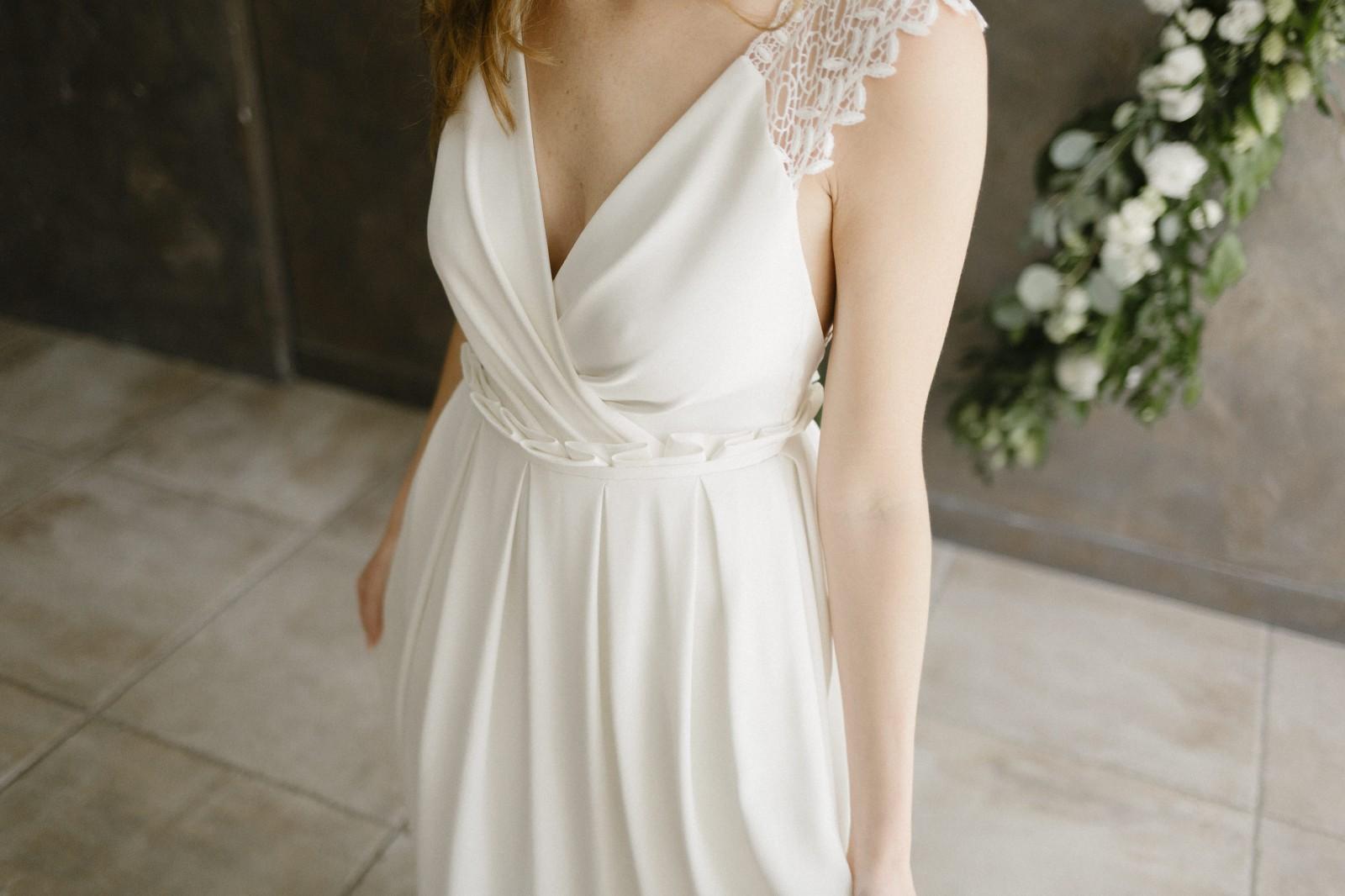 Robe de mariée cache coeur.