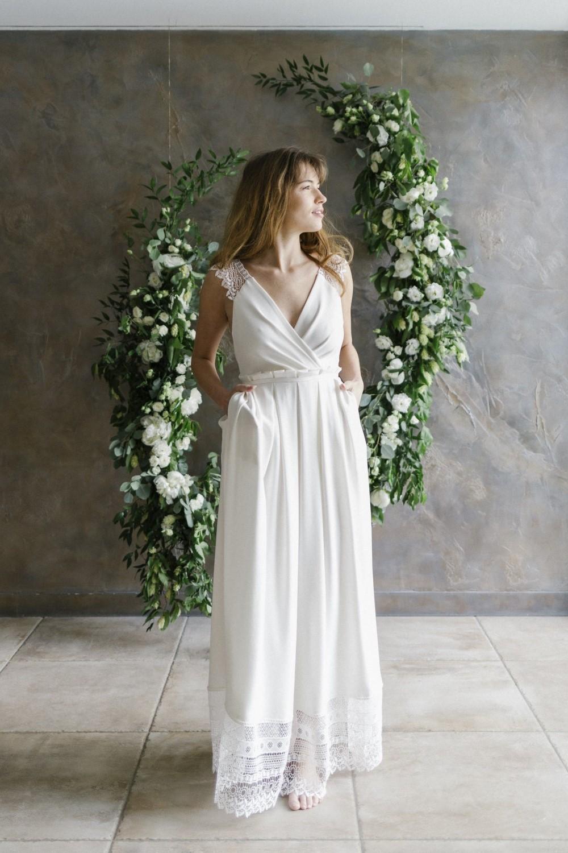 Une robe de mariée conçue de façon ecoresponsable.